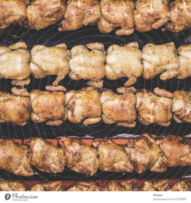 kümmerlich(es) | Dasein nackt rot Feste & Feiern Lebensmittel braun Ordnung Ernährung Kochen & Garen & Backen lecker heiß Grillen Appetit & Hunger Jahrmarkt