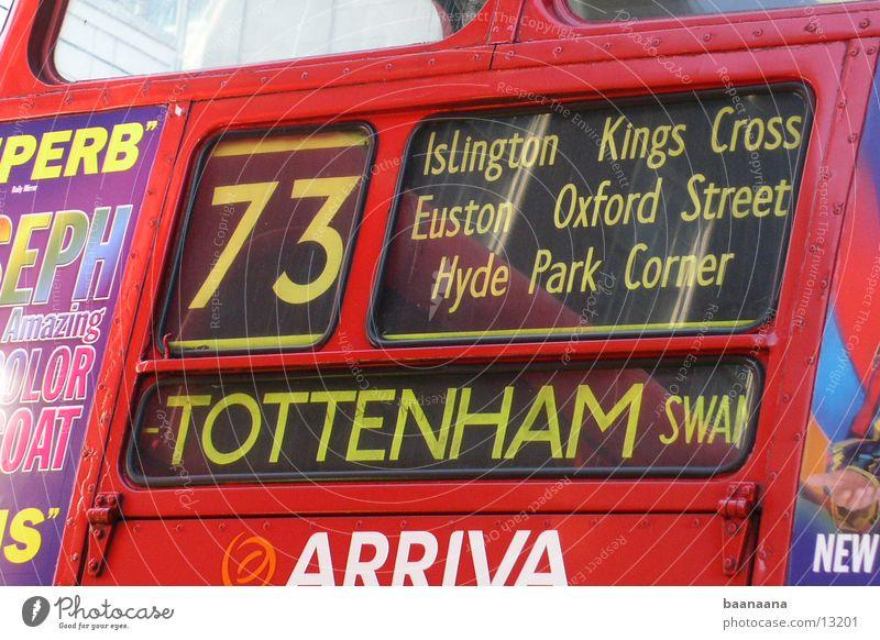 England Bus London Wege & Pfade Verkehr Anzeige South Tottenham
