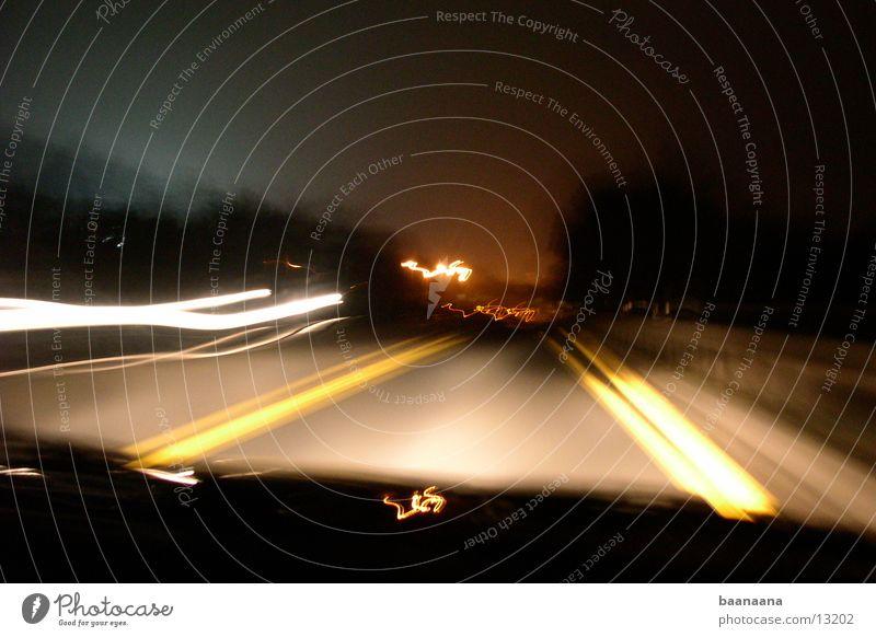 Nightshot Geschwindigkeit Autobahn