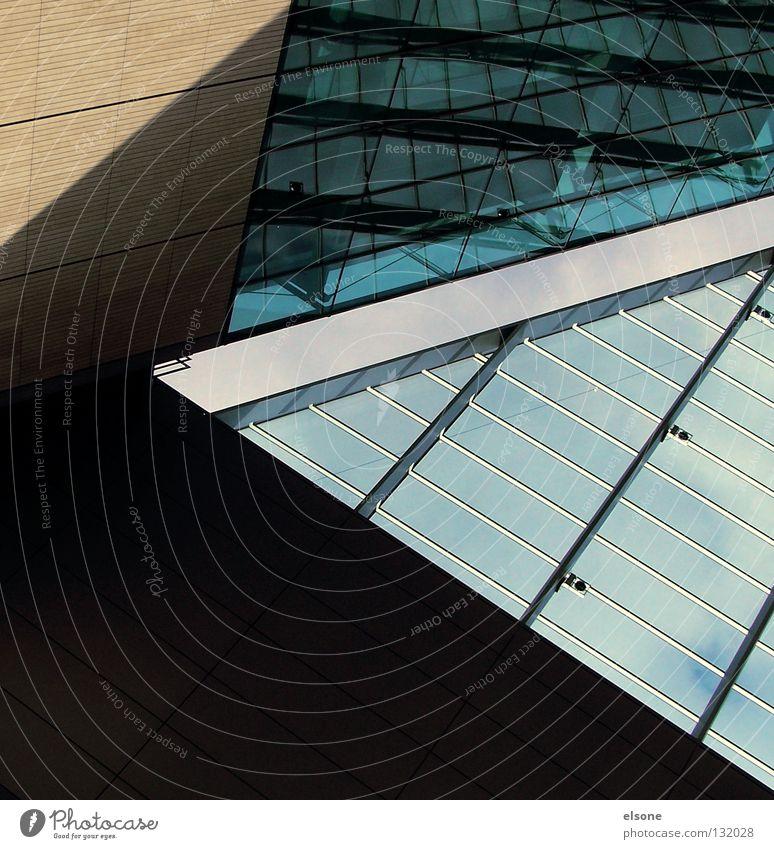::ARCHITEKTUR:: Haus Gebäude Linie Glas Beton modern Stahl Grafik u. Illustration graphisch Öffentlicher Dienst