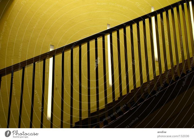 Rhythmus grün gelb Farbe Architektur Europa Innenarchitektur Messe aufwärts Leiter Geländer Österreich Museum Lichtspiel Ausstellung Rhythmus