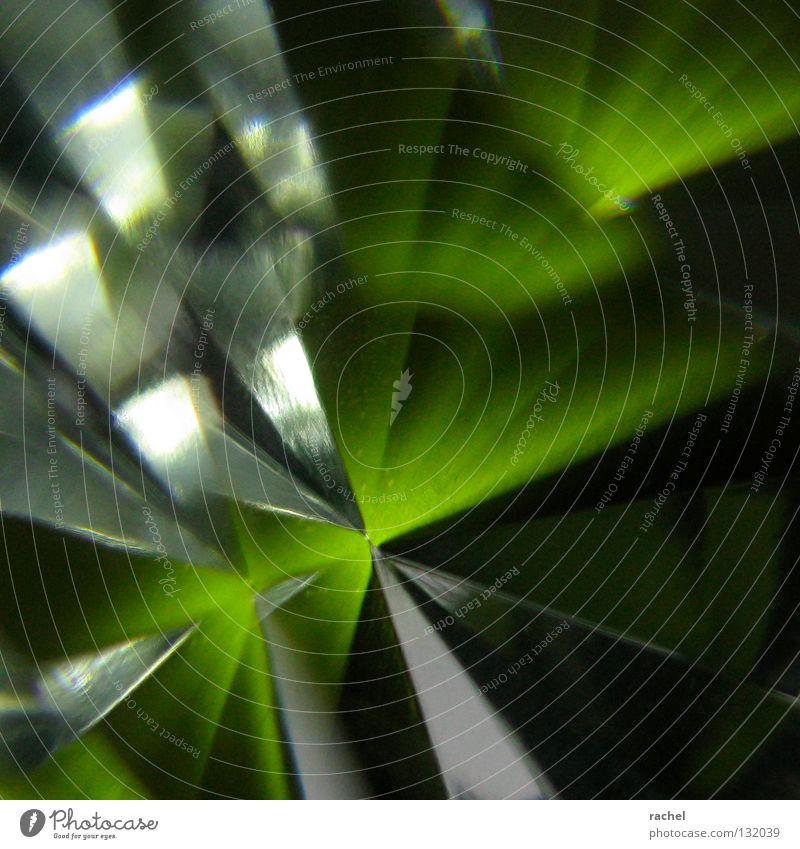 Klunkerkitsch grün Lampe Beleuchtung glänzend Glas Stern (Symbol) Ecke Kitsch Dekoration & Verzierung Spitze Dinge Reichtum Schmuck Alkoholisiert durchsichtig Kristallstrukturen