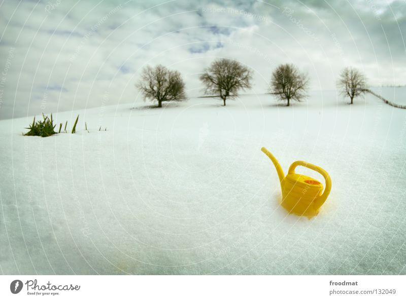 happy tree friends Natur Wasser schön Himmel weiß Baum Winter ruhig Wolken Einsamkeit gelb kalt Schnee Erholung Gras hell