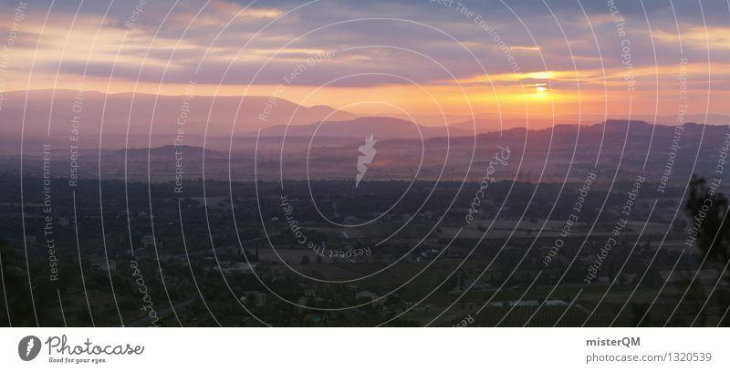 Französische Sonne. Sonne Landschaft Kunst Nebel ästhetisch Frankreich Provence
