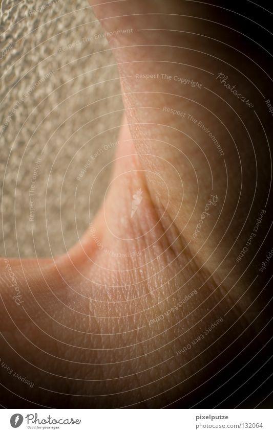 nackt. Mensch Mann Leben nackt Linie Haut Vertrauen Gefäße Hülle