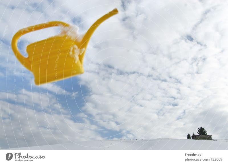 unbekanntes flugobjekt Wasser schön Himmel weiß Winter ruhig Einsamkeit gelb kalt Schnee Erholung hell Zusammensein Kunst lustig Hintergrundbild