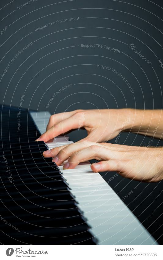 Fingerfertigkeit Mensch 1 Kunst Künstler Musik Konzert Musiker Klavier Spielen üben Schüler Musikunterricht Klavier spielen Klavierunterricht Klaviatur schwarz