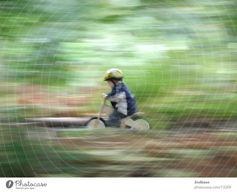MAXimal-Speed Mensch Kind grün Bewegung Fahrrad Geschwindigkeit Rad