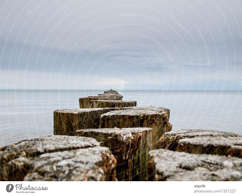 Passageway to the Baltic Sea Himmel Natur Ferien & Urlaub & Reisen blau Wasser Erholung Meer Einsamkeit Landschaft Umwelt Küste braun Stimmung Wetter Energie