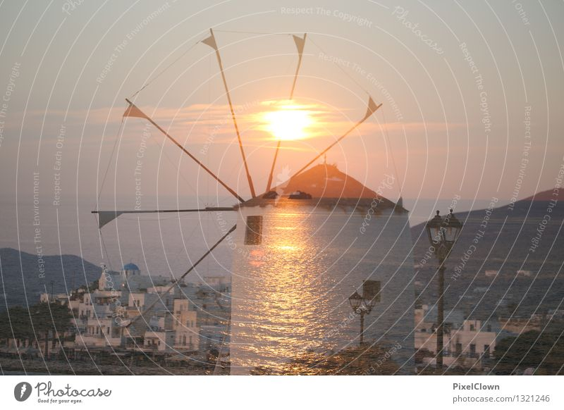 Griechische Inseln Ferien & Urlaub & Reisen schön Erholung Meer Architektur Lifestyle Stimmung orange Zufriedenheit träumen Tourismus elegant harmonisch