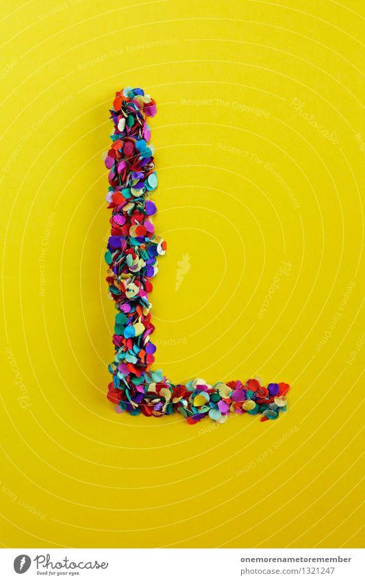 L Kunst Kunstwerk ästhetisch l Licht Leben Liebe Luft lustig Lifestyle Typographie Buchstaben Kreativität Design Designwerkstatt gelb viele mehrfarbig knallig
