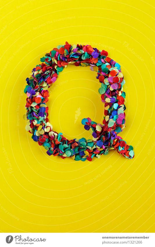 Q Kunst ästhetisch Qualität Quelle Buchstaben Typographie Kreativität Design Designwerkstatt Designmuseum gelb verrückt Neigung Farbfoto mehrfarbig