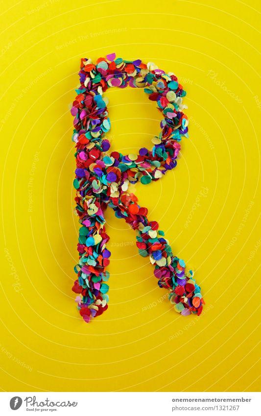 R Kunst Kunstwerk ästhetisch ruhig Reisefotografie retro Romantik rund Kreativität Buchstaben Typographie Design Konfetti mehrfarbig Farbfoto Innenaufnahme