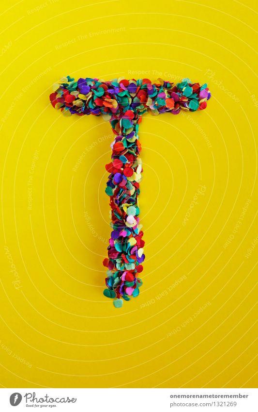 T Kunst Kunstwerk ästhetisch Tourismus Textfreiraum Tanzen Traurigkeit gelb Typographie Buchstaben Design Designwerkstatt Designmuseum Kreativität Farbfoto