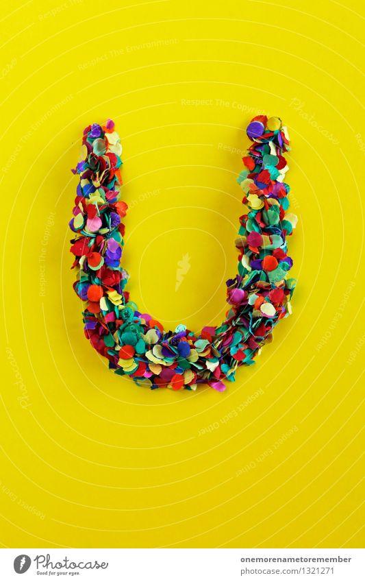 U Kunst Kunstwerk ästhetisch USA gelb Buchstaben Typographie Kreativität Design Designwerkstatt Designmuseum knallig Farbfoto mehrfarbig Innenaufnahme