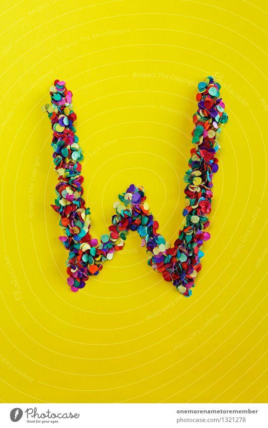 W Kunst Kunstwerk ästhetisch W-Wörter Weihnachten & Advent Buchstaben Typographie Design Designwerkstatt Designmuseum Konfetti gelb Farbfoto mehrfarbig