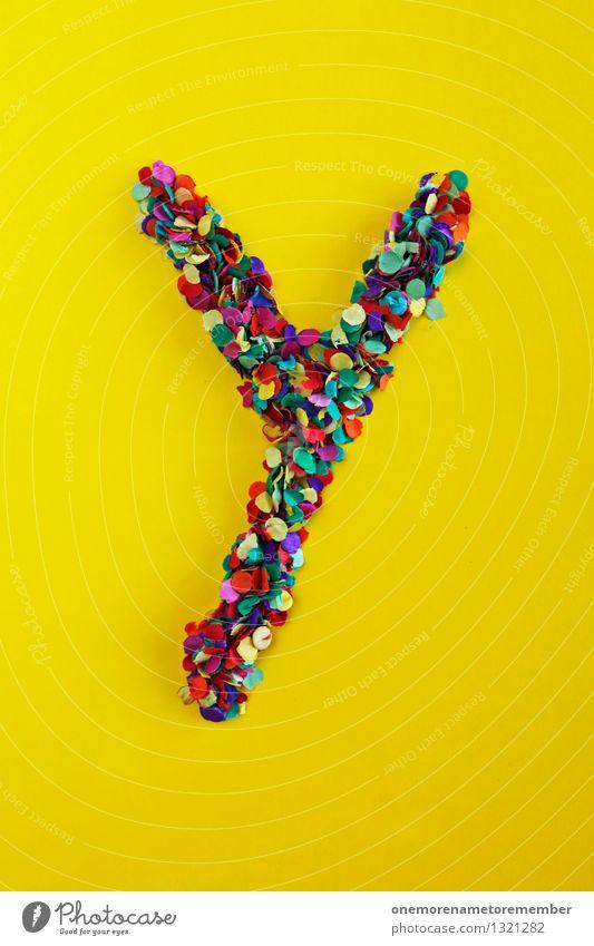Y Kunst Kunstwerk ästhetisch Buchstaben Typographie Kreativität gestalten Design Designwerkstatt Designmuseum gelb Gelbstich Farbfoto mehrfarbig Innenaufnahme