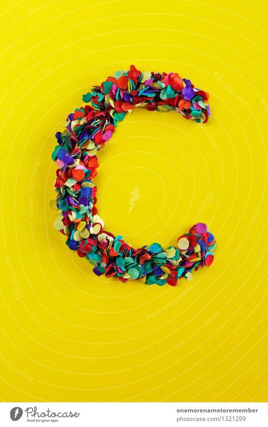 C Kunst Kunstwerk ästhetisch Café Coolness Club China Camping Cocktail Charakter gelb mehrfarbig viele Buchstaben Typographie knallig Mosaik Farbfoto