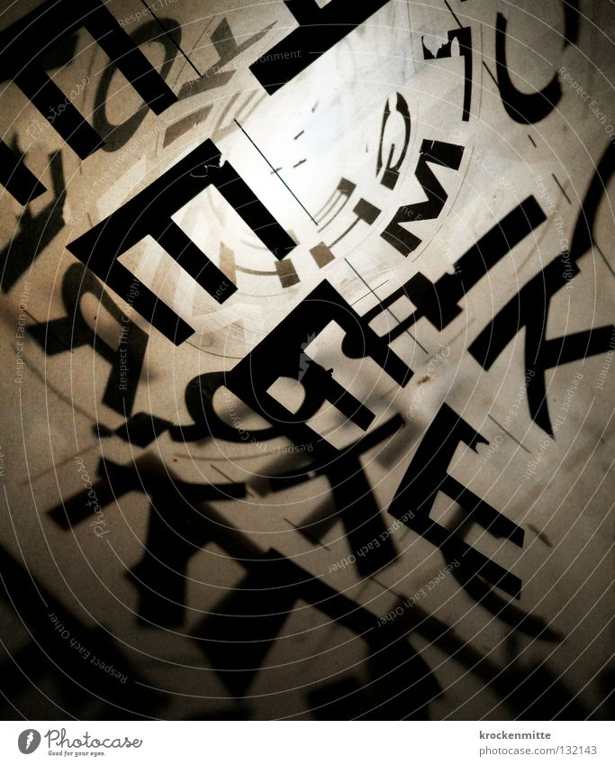 typo pichnette III schwarz Design Schriftzeichen Buchstaben schreiben Grafik u. Illustration tief Kreativität Typographie durchsichtig gestalten abstrakt