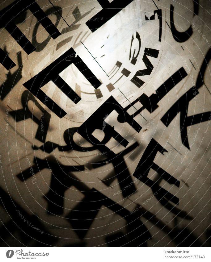 typo pichnette III schwarz Design Schriftzeichen Buchstaben schreiben Grafik u. Illustration tief Kreativität Typographie durchsichtig gestalten abstrakt Lateinisches Alphabet