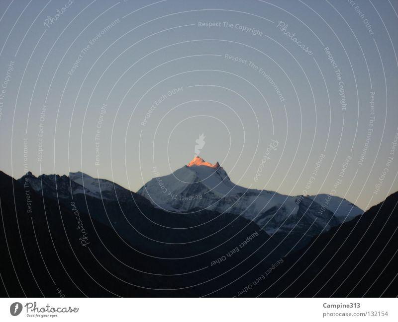 Weißhorn Natur Schnee Berge u. Gebirge wandern Schweiz Gipfel staunen
