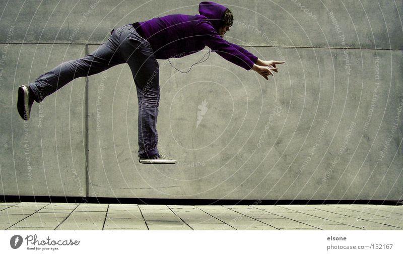 ::AIR-SKATER:: Mensch Mann Wand grau fliegen Macht Schweben Superman