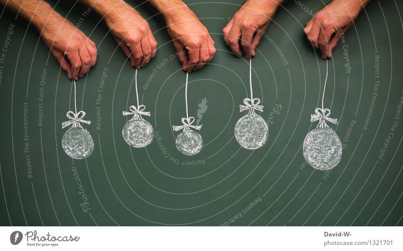 Weihnachten Mensch Weihnachten & Advent grün schön Hand Freude Leben Familie & Verwandtschaft Feste & Feiern Kunst Wohnung träumen maskulin elegant Kindheit