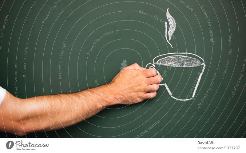 durst? Mensch Erholung Hand ruhig Winter Erwachsene Leben Herbst Gesundheit Business maskulin Getränk genießen Pause Küche trinken