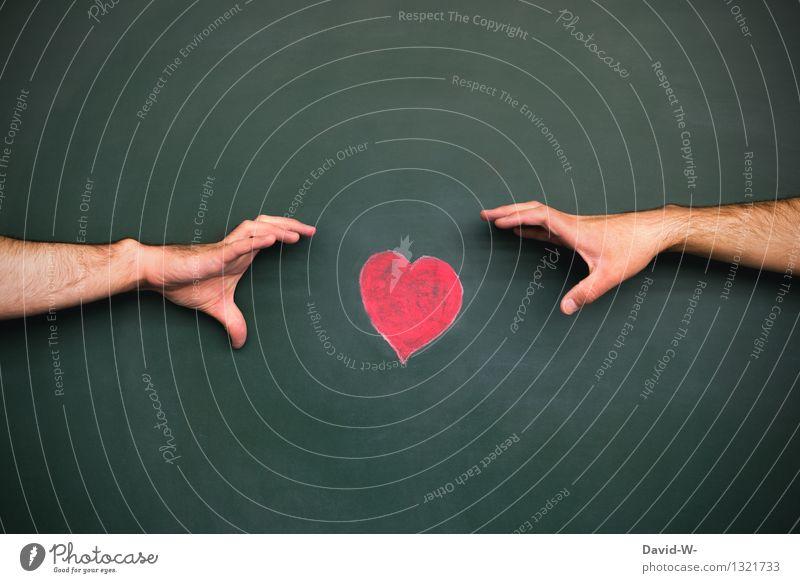 Meins... Mensch Mann Hand Erotik Erwachsene Leben Traurigkeit Liebe Gefühle sprechen Kunst träumen maskulin Herz Ziel festhalten