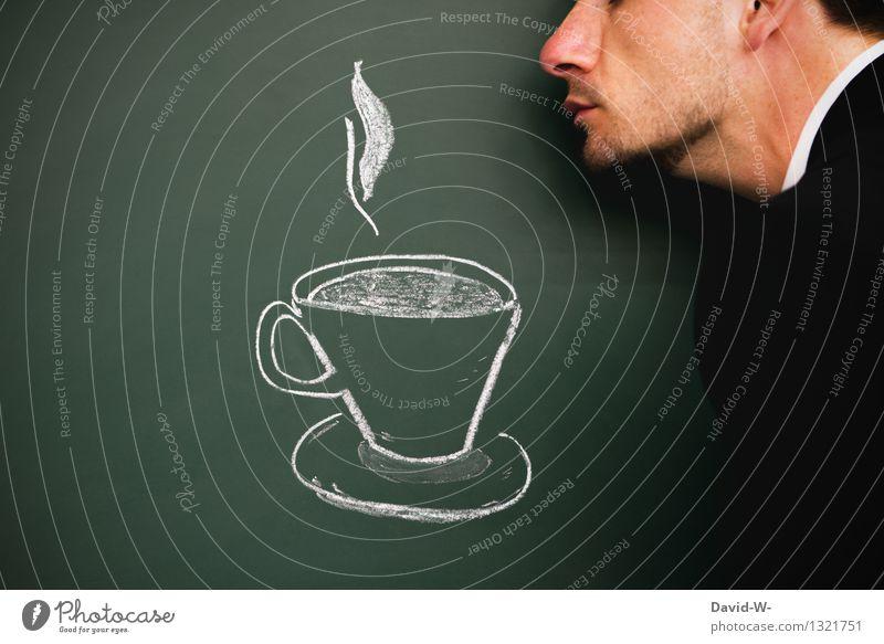 jetzt einen Kaffee Mensch Jugendliche Mann Erholung ruhig Winter 18-30 Jahre Erwachsene Leben Gesundheit Lifestyle Kopf Gesundheitswesen maskulin genießen