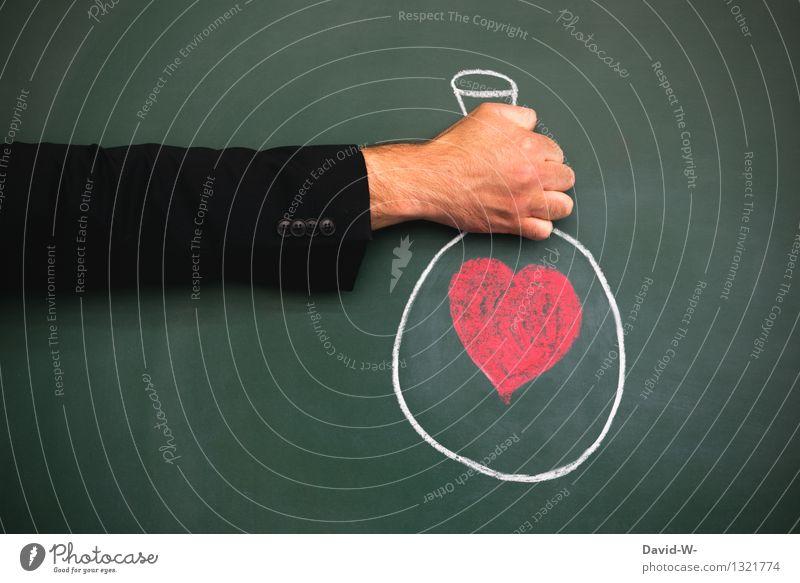Liebesbeweis übergeben überreichen Herzlichen Glückwunsch herzlich Herzliche Grüße Überraschung Geschenk schenken herzförmig Tafel Kreide zeichnung kreativ hand