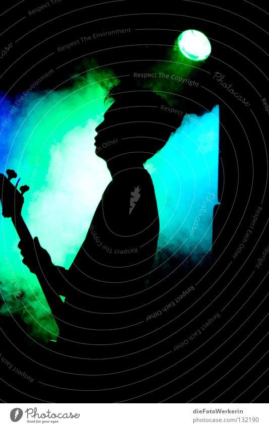 Der Bass blau Gefühle Musik Stimmung Elektrizität Konzert Konzentration Rockmusik Kontrabass sentimental