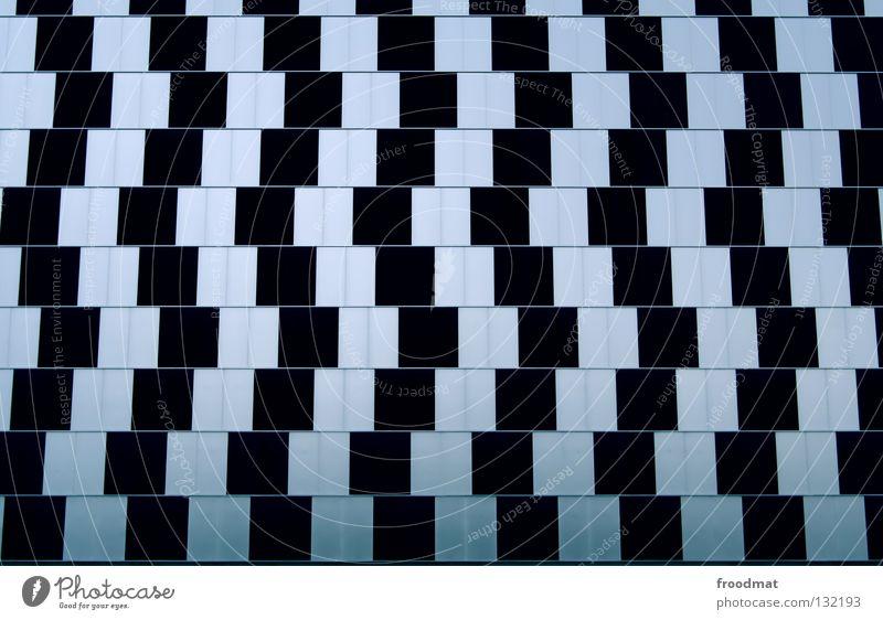 verschoben Linie lustig Fassade Industrie modern Schweiz Klarheit Quadrat Geometrie parallel Illusion Verzerrung Genauigkeit gekrümmt