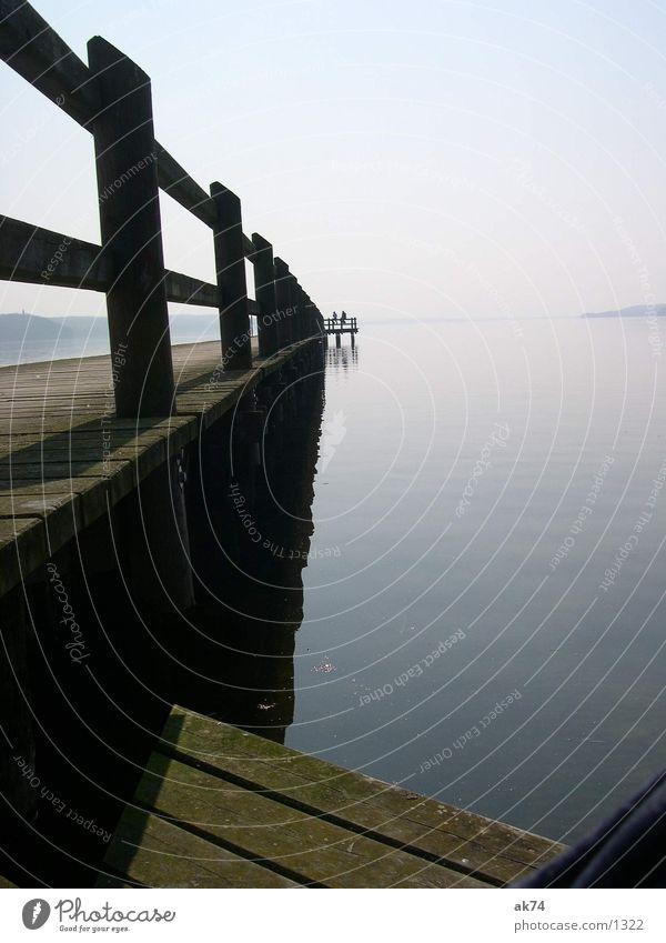 Am See Wasser blau Steg