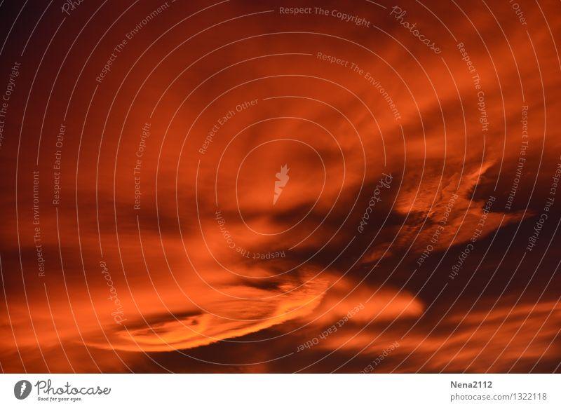 Gewitter Himmel Natur rot Landschaft Wolken dunkel Umwelt orange wild Wetter Luft Angst Wind ästhetisch gefährlich fantastisch