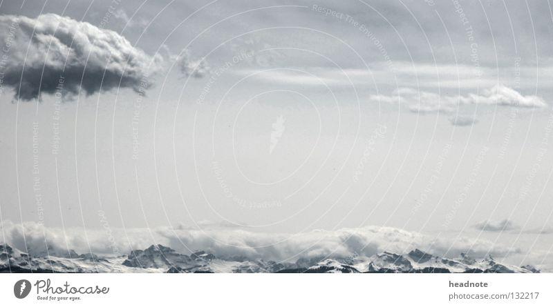 Cloudy Mountains Himmel Sonne Wolken Berge u. Gebirge Schnee grau Aussicht retten