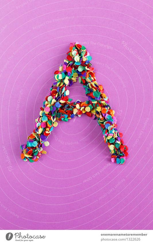 A Kunst Kunstwerk ästhetisch alphabetisch Lateinisches Alphabet Buchstaben Typographie Kreativität Design Idee Konfetti viele Punkt Farbfoto mehrfarbig