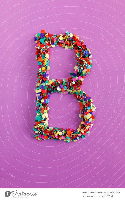 B Kunst Design ästhetisch Kreativität Idee Buchstaben violett Typographie Kunstwerk alphabetisch