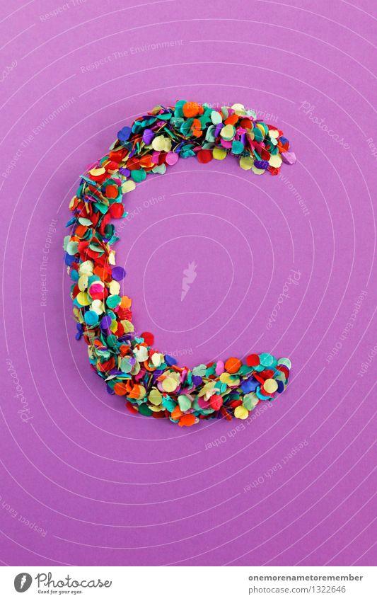 C Kunst Design ästhetisch Kreativität Idee Buchstaben violett Typographie Kunstwerk Konfetti gestalten Mosaik alphabetisch