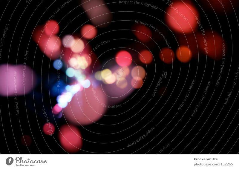 Don't Drink and Drive! blau rot Farbe Lampe rosa Kreis Punkt Ausgang Nachtleben Lichterkette