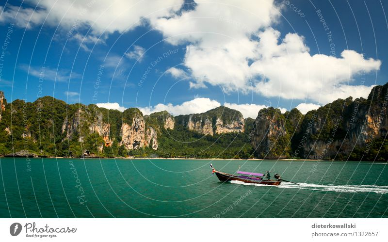 Long Tail Ferien & Urlaub & Reisen Ausflug Abenteuer Sommer Sommerurlaub Meer Insel Wellen Natur Schönes Wetter Sportboot Motorboot Tourismus Longtail