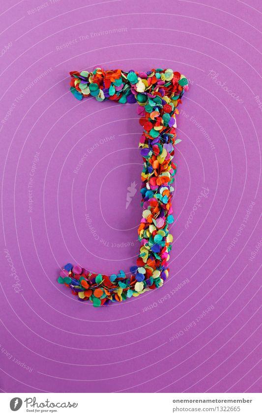 J Kunst ästhetisch Jugendliche Buchstaben Typographie alphabetisch Konfetti Design Kreativität Idee mehrfarbig Farbfoto Innenaufnahme Experiment abstrakt
