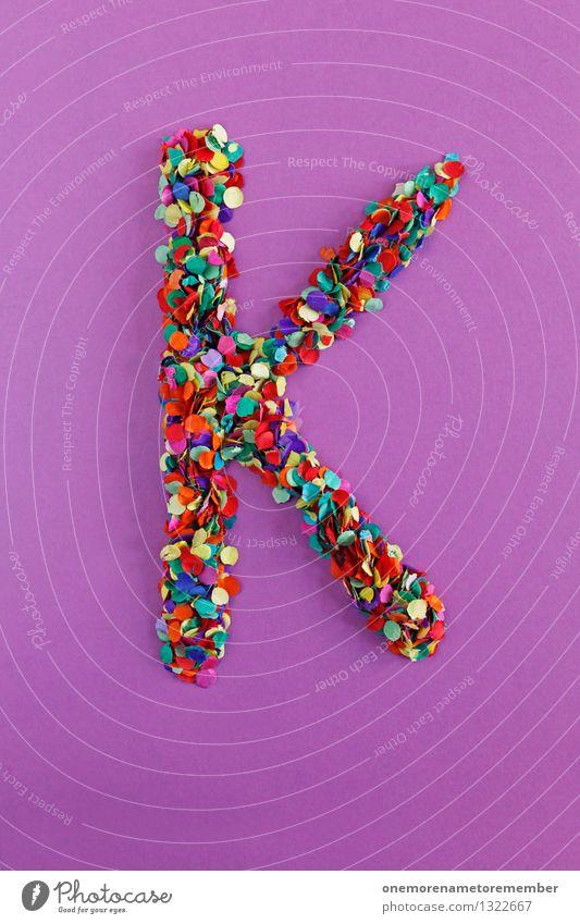 K Kunst Kunstwerk ästhetisch Kunstgalerie Konfetti Buchstaben Typographie alphabetisch violett Kreativität Idee Design Farbfoto mehrfarbig Innenaufnahme