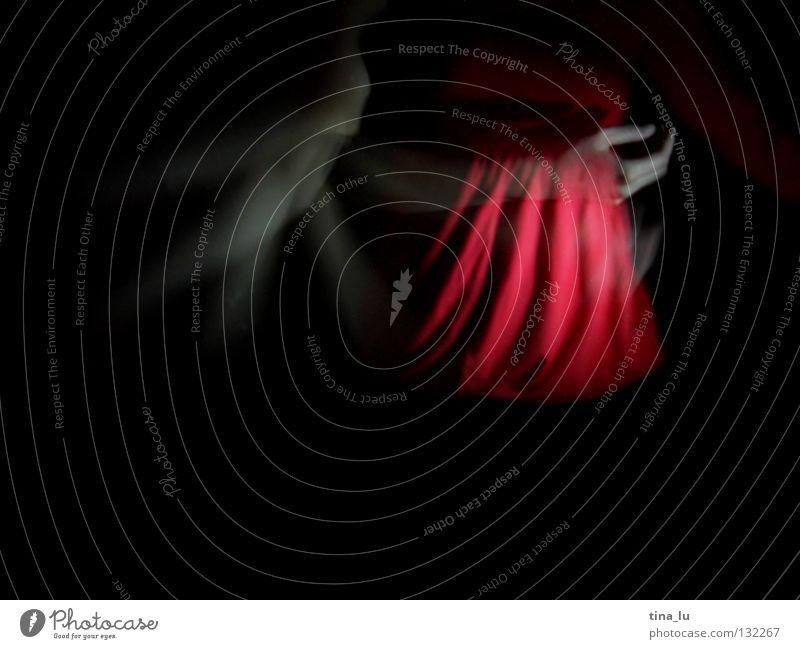 dancing in the dark VI Frau Hand schön rot dunkel feminin Bewegung Tanzen Haut Arme elegant 3 ästhetisch Körperhaltung Flügel geheimnisvoll