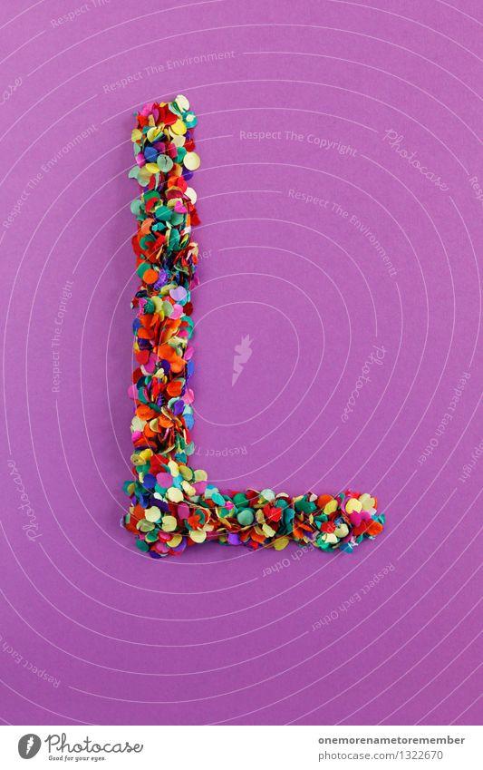 L Lifestyle Kunst Design ästhetisch Kreativität Idee Buchstaben violett Typographie Kunstwerk Konfetti alphabetisch