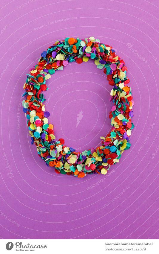 O Kunst Kunstwerk ästhetisch o Buchstaben Typographie alphabetisch viele Mosaik violett mehrfarbig Design Kreativität Idee Ostern Osternest Konfetti Farbfoto