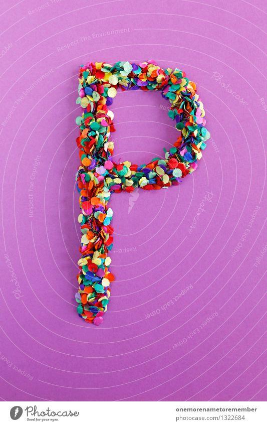P Kunst Design ästhetisch Kreativität Idee Buchstaben violett Typographie Kunstwerk parken Konfetti alphabetisch