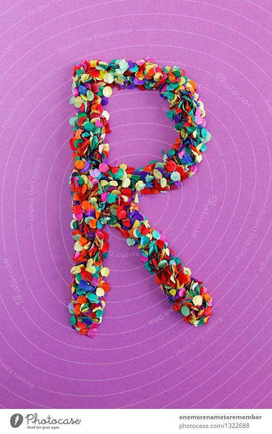 R Kunst Kunstwerk ästhetisch Buchstaben Typographie alphabetisch viele Punkt Konfetti Design Kreativität Idee Farbfoto mehrfarbig Innenaufnahme Nahaufnahme