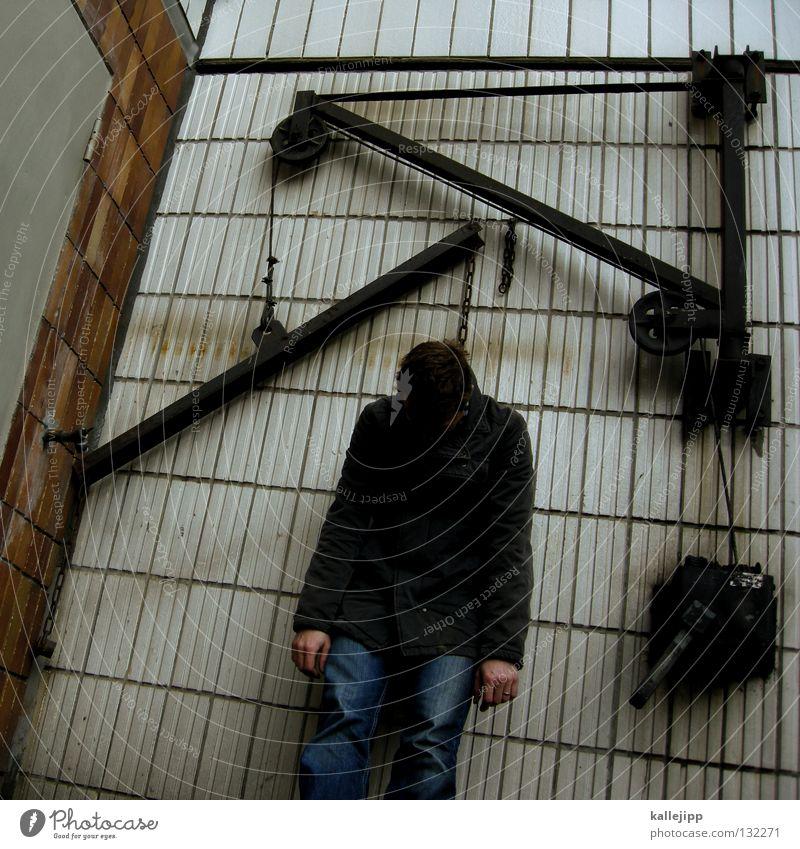 justicia Mensch Mann Tod Zufriedenheit Seil Schnur Ende gruselig Gewalt hängen Fragen Krieg Kette Justiz u. Gerichte Wiedervereinigung Selbstmord