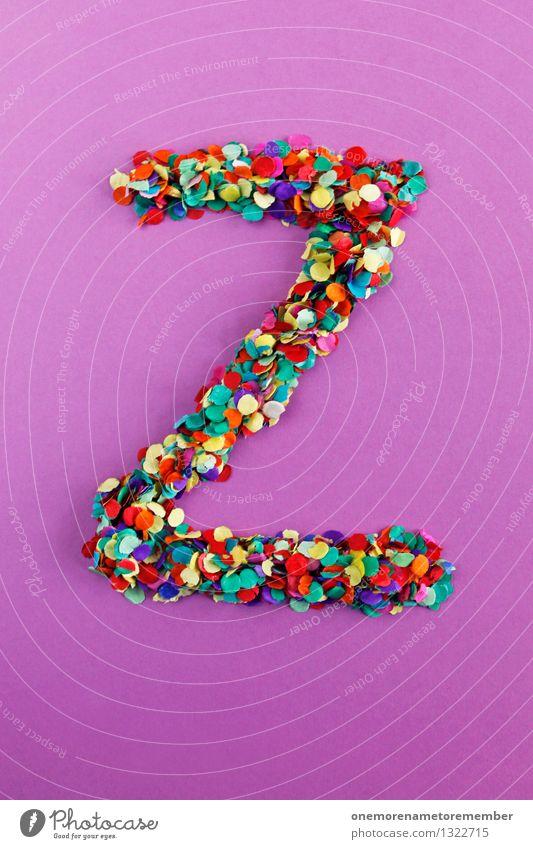 Z Kunst Kunstwerk ästhetisch z Buchstaben viele Mosaik Konfetti Typographie gestalten violett graphisch Design mehrfarbig Farbfoto Innenaufnahme Experiment